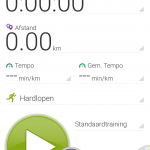 Endomondo app main screen