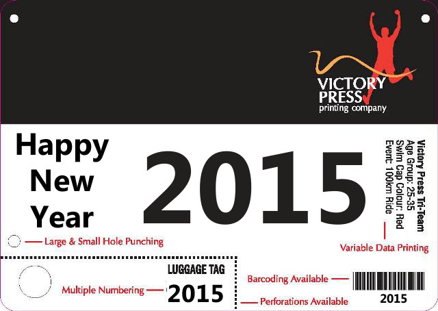 Happy New Year Bib 2015